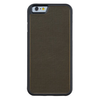 Black Leather Look Carved Maple iPhone 6 Bumper Case