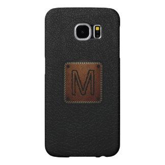 Black Leather Look Monogram