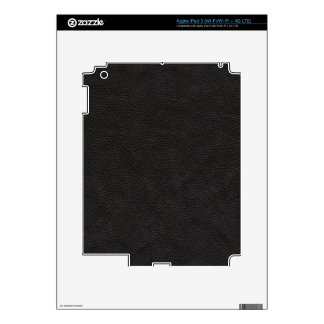 Black Leather Print Texture Pattern iPad 3 Skins