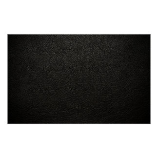 Black Leather Texture Background Poster