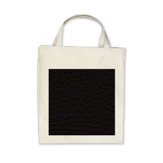 Black Leather Texture Tote Bag