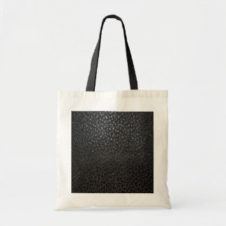 Black Leather Texture Canvas Bags