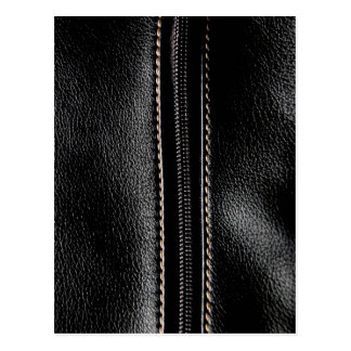 Black Leather with Zipper Postcard