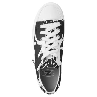 Black Leaves Tropical Palm Summer Tropics Chic Low Tops