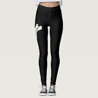 Black leggings adorned with Dove