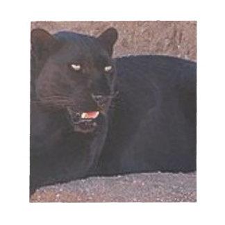 Black Leopard Notepad