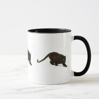 Black Leopard stalking, Black Leopard stalking,... Mug