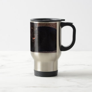 Black Leopard Travel Mug