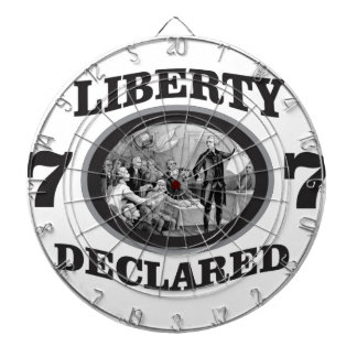 black liberty declared dartboard