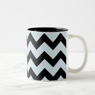 Black & Light Blue Zig Zag Mug