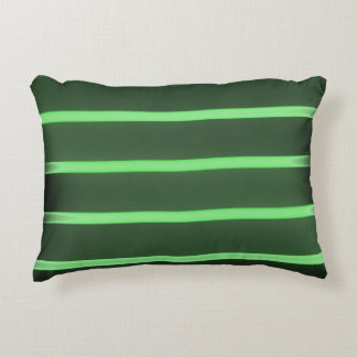 Black Light Green brush polyester accent pillow