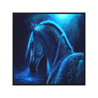 Black Light Horse Canvas Canvas Print