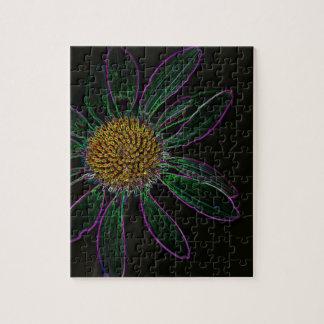 Black Light Neon Flower Power Puzzle