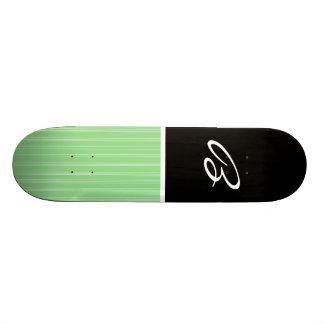 Black & Lime Green Skate Board Deck