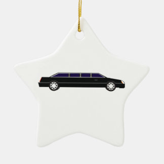 Black Limo Ceramic Ornament