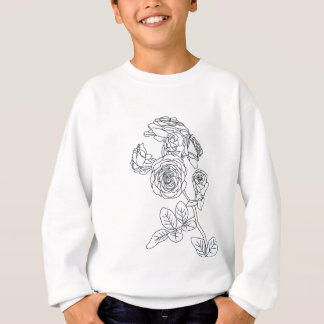 Black lined Rose Bouquet Sweatshirt