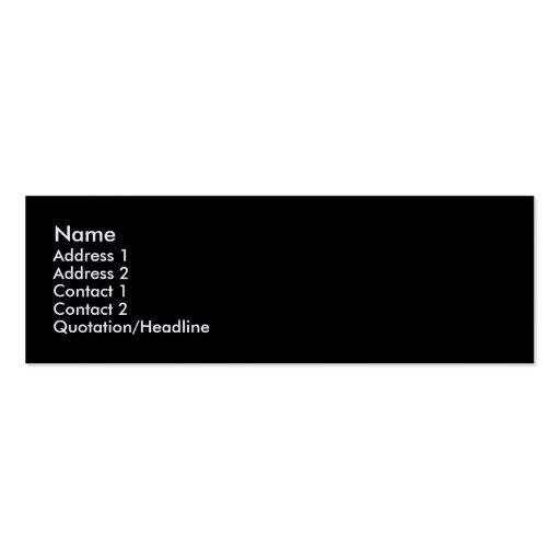 Black Linen Textured Skinny Profile Business Card