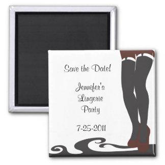 Black Lingerie Bridal Shower Save the Date Magnet