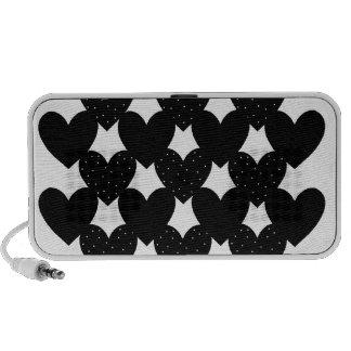 Black Linked Hearts Speaker System