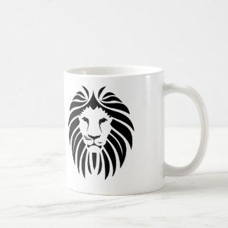 Black Lion Mane - White Coffee Mug