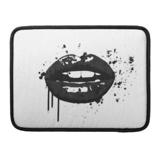 Black lips stylish fashion kiss makeup artist sleeve for MacBook pro