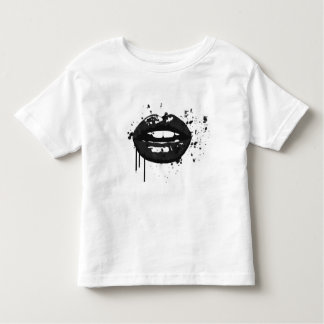Black lips stylish fashion kiss makeup artist toddler T-Shirt