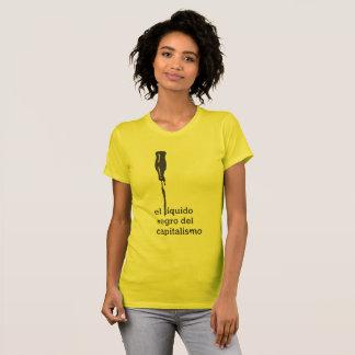 Black liquid El del Capitalism (Feminine) T-Shirt