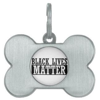Black Lives Matter - Bold Design - Black Pride Pet ID Tag