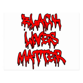Black Lives Matter Dripping Graffiti Postcard