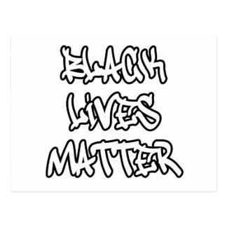 Black Lives Matter Graffiti Postcard