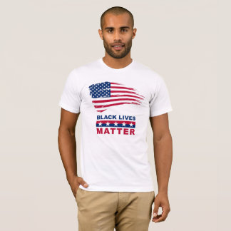 Black Lives Matter T-shirt with American Flag