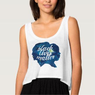 Black Lives Matter Watercolor Nightsky Crop Top