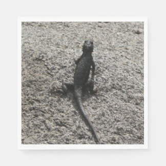 Black Lizard Paper Napkins
