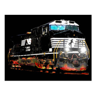 Black Locomotive Post Cards