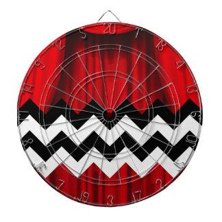 black lodge chevron dartboard