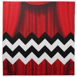 black lodge chevron napkin