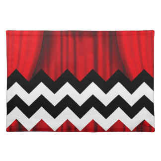 black lodge chevron placemat