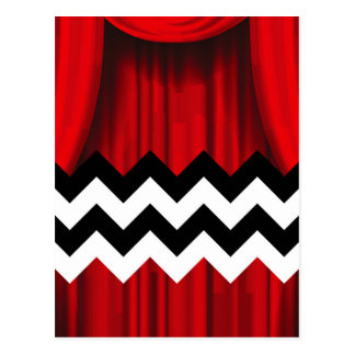 black lodge chevron postcard