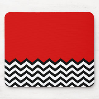 Black Lodge Chevron Red Room Zig Zag Mouse Pad