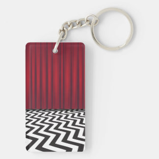 Black Lodge Red Room Double Sided Key Chain