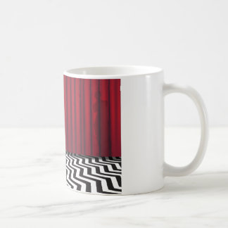 Black Lodge Red Room Mug Basic White Mug