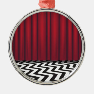 Black Lodge Red Room Silver-Colored Round Decoration