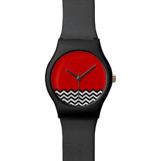 Black Lodge Watch (B/W Chevron Red Room Zig Zag)