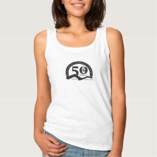 Black Logo - Womens Foothills Turns Fifty Tanktop Singlet