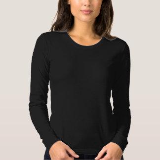 Black Longsleeve with White Logo on Back T Shirt