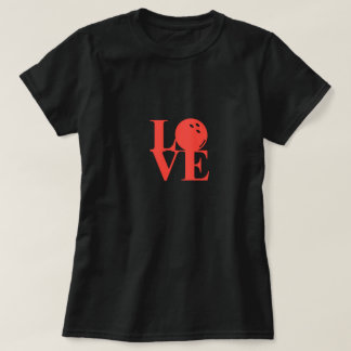 "Black ""Love"" Bowling Tee by League Champ Bowling"