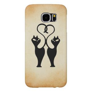 Black Love Cats Case Samsung Galaxy S6 Cases