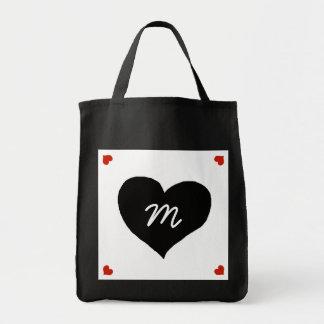 black love heart personalized