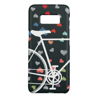 Black Love hearts Abstract Bicycle Case-Mate Samsung Galaxy S8 Case