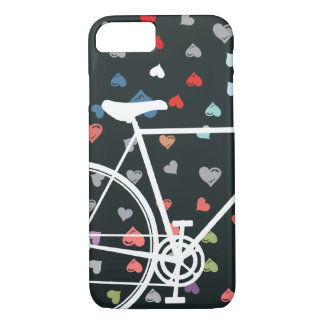 Black Love hearts Abstract Bicycle iPhone 8/7 Case